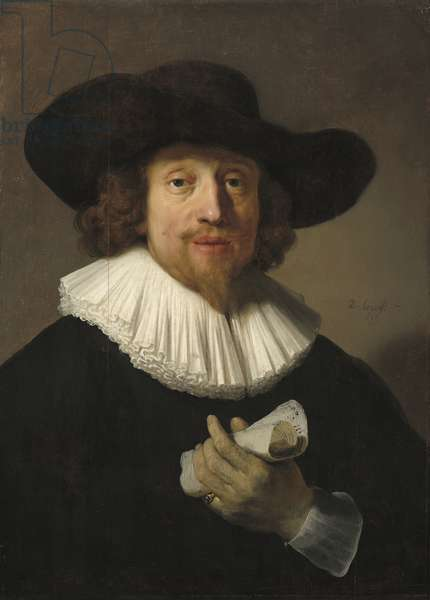 Man with Sheet of Music, 1633 (oil on panel)