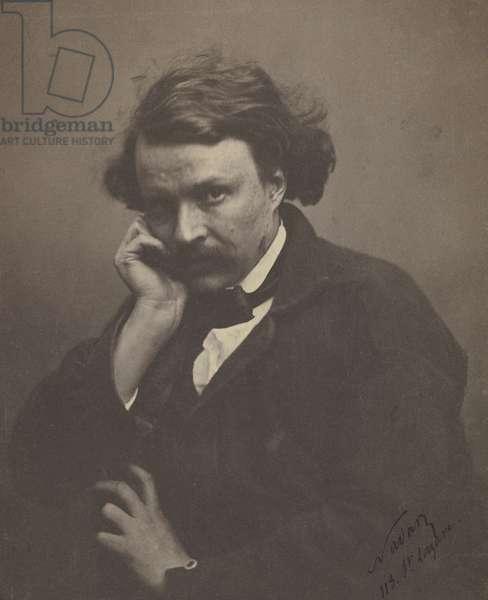 Self portrait, c.1855 (b/w photo)