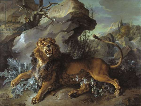 The Lion and the Fly, 1732 (oil on canvas)