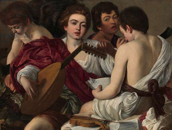 The Musicians, c.1595 (oil on canvas)