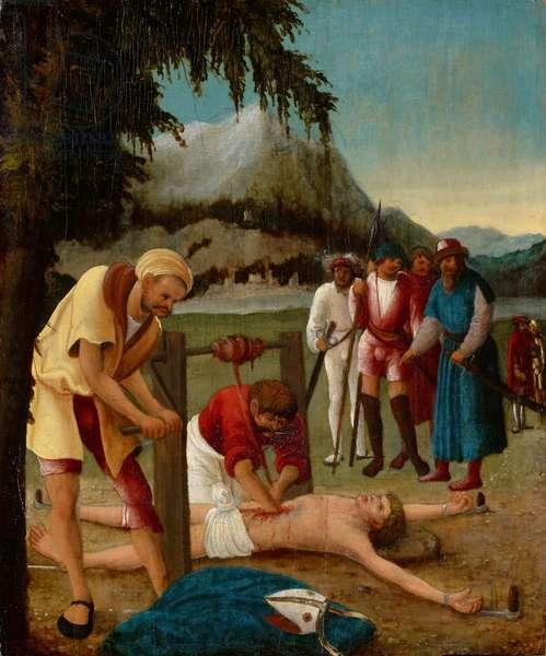 The Martyrdom of Saint Erasmus, 1518-20 (oil on wood)
