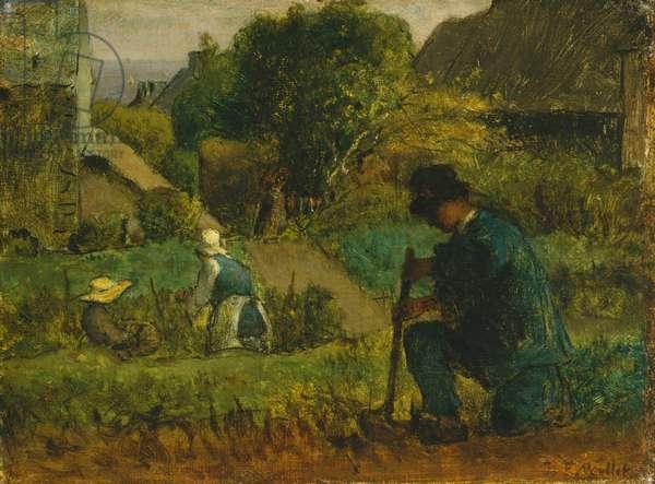 Garden Scene, 1854 (oil on canvas)