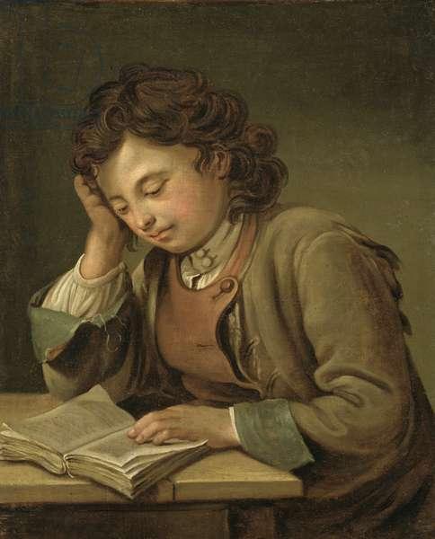 A Boy Reading, 1758 (oil on canvas)