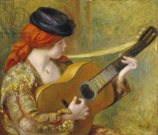 Young Spanish Woman with a Guitar, 1898 (oil on canvas)