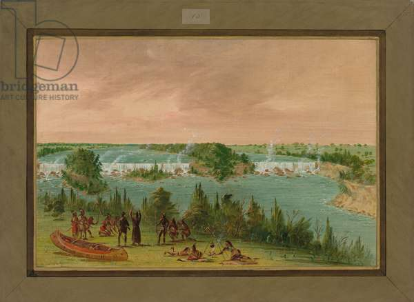 Father Hennepin and his men at the Falls of St. Anthony, May 1st, 1680, 1847-48 (oil on canvas)