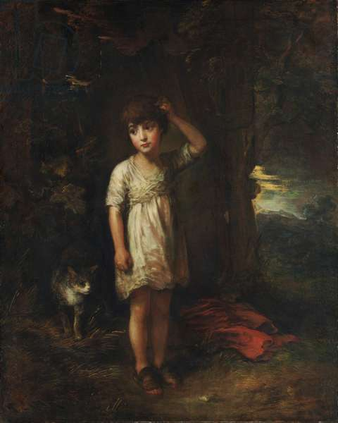 A Boy with a Cat, Morning, 1787 (oil on canvas)