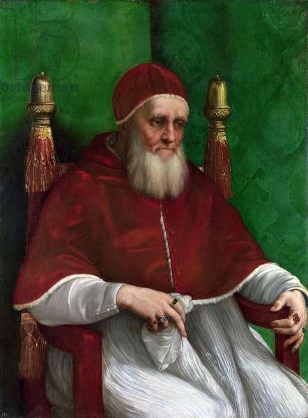 Portrait of Pope Julius II, 1511 (oil on panel)