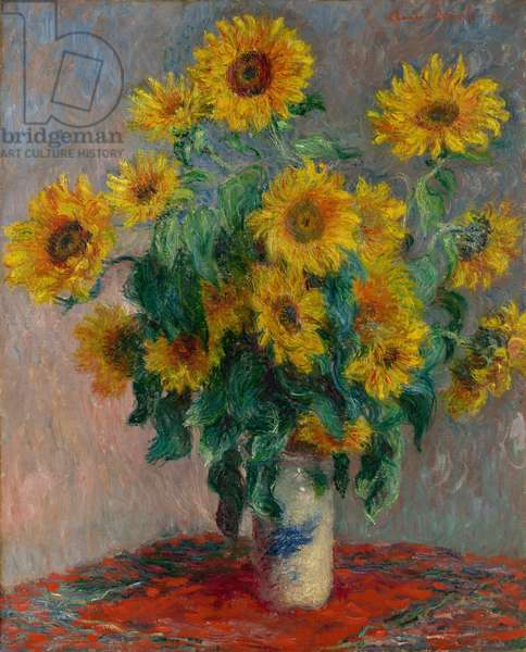 Bouquet of Sunflowers, 1881 (oil on canvas)