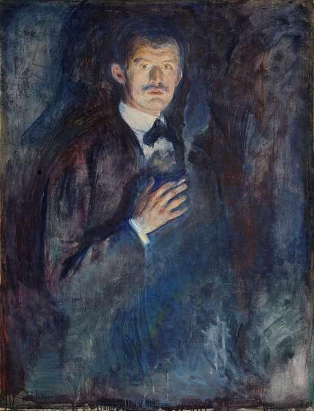 Self Portrait with Cigarette, 1895 (oil on canvas)