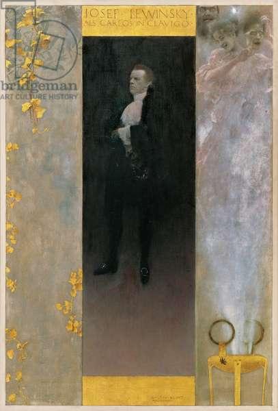 The actor Josef Lewinsky as Carlos in Goethe's Clavigo, 1895 (oil on canvas)