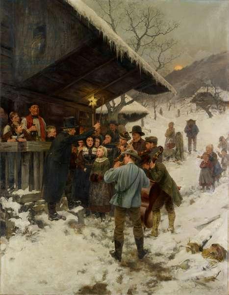 A Christmas Carol in Lucerne, 1887 (oil on canvas)