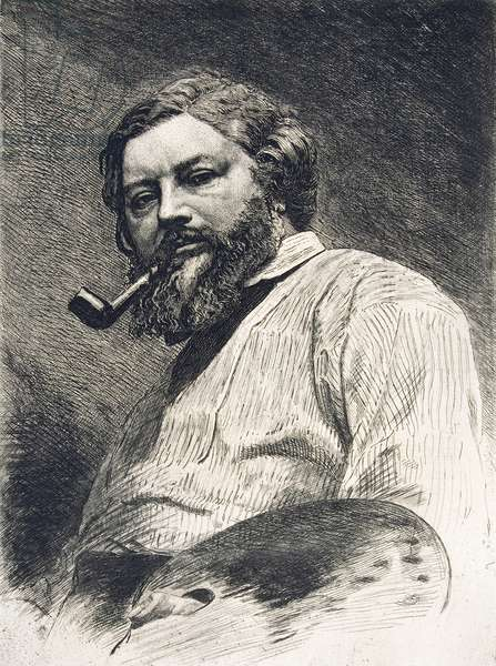 Gustave Courbet, 1882 (etching)