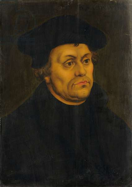 Portrait of Martin Luther (oil on wood)