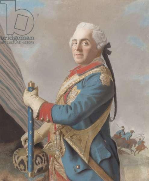 Portrait of Maurice de Saxe (1696-1750), Marshal of France , 1748  (Pastel on parchment)