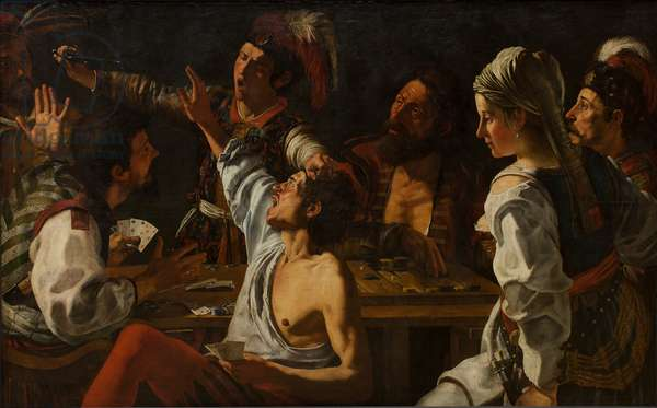 Card and Backgammon Players. Fight over Cards, c. 1620-30 (oil on canvas)