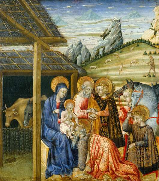 The Adoration of the Magi, c.1460 (tempera and gold on wood)