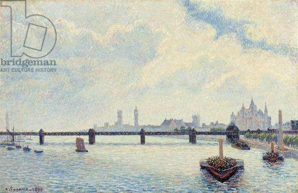 Charing Cross Bridge, London, 1890 (oil on canvas)