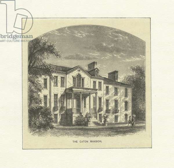 The Caton Mansion, c.1870 (engraving)
