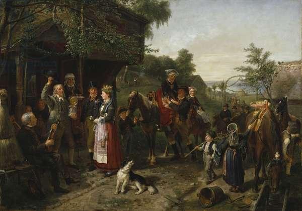 A Värend Wedding, 1873 (oil on canvas)