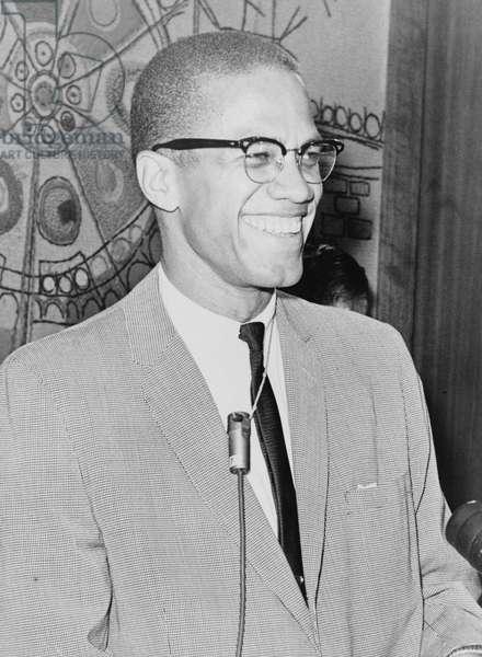 Malcolm X, 1964 (b/w photo)