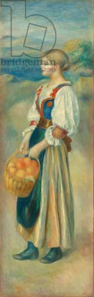 Girl with a Basket of Oranges, c.1889 (oil on canvas)