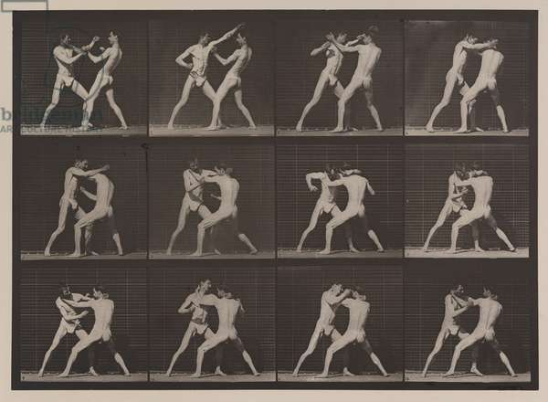 Plate Number 340. Boxing; open hand (shoes), 1887 (collotype)