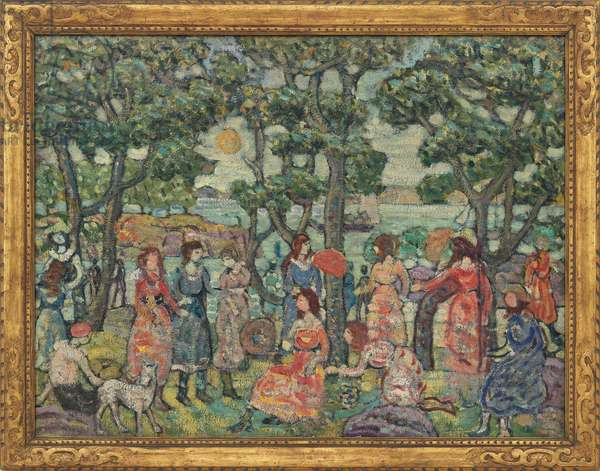 Landscape with Figures, 1921 (oil on canvas)
