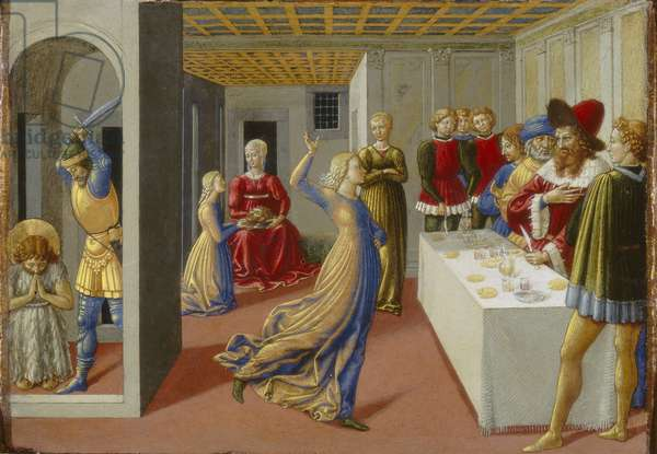 The Feast of Herod and the Beheading of Saint John the Baptist, 1461-62 (tempera on panel)