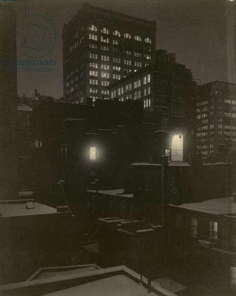 From the Back Window - 291, 1915 (platinum print)