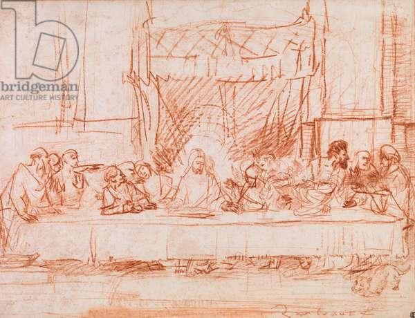 The Last Supper, after Leonardo da Vinci, 1634-35 (red chalk)