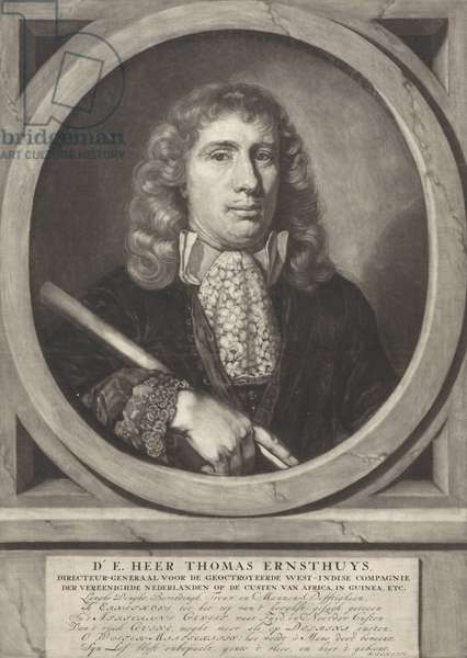 Portrait of Thomas Ernsthuys, 1684-90 (engraving)
