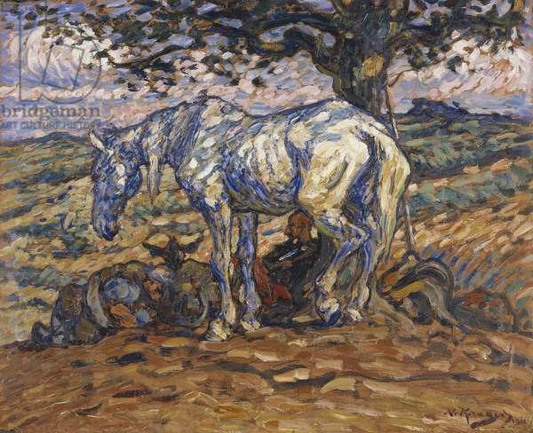 Don Quihote's Horse Rosinante, 1911 (oil on cardboard)