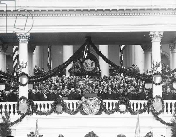 Inauguration of U.S. President Franklin Roosevelt, Washington DC, USA, March 4, 1933 (b/w photo)