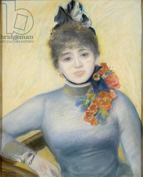 """Caroline Rémy (""""Séverine""""), c.1885 (pastel on paper)"""