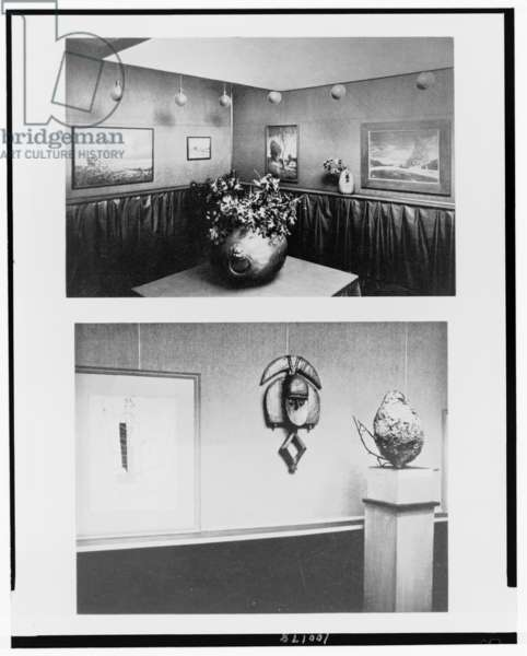 Above, German and Viennese photography, March, 1906, and below, Detail: Picasso-Braque exhibition, January, 1915 (b/w photo)
