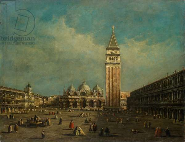 The Piazza San Marco in Venice (oil on canvas)