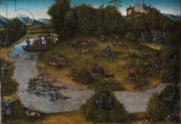 The Stag Hunt of the Elector Frederick the Wise, c.1530 (oil on panel)