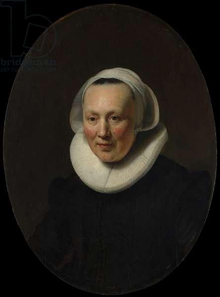 Portrait of a Woman, 1633 (oil on wood)