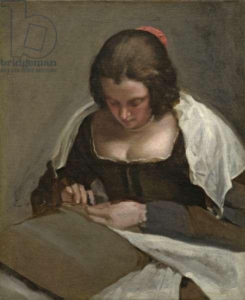 The Needlewoman, c.1640-50 (oil on canvas)