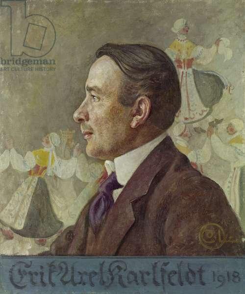 Erik Axel Karlfeldt, 1918 (oil on canvas)