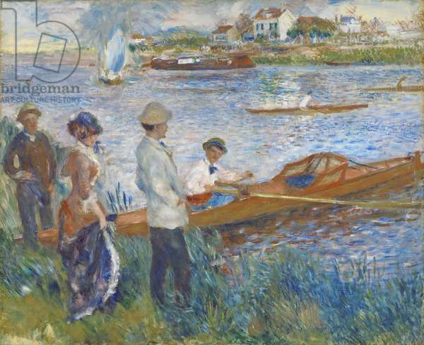 Oarsmen at Chatou, 1879 (oil on canvas)