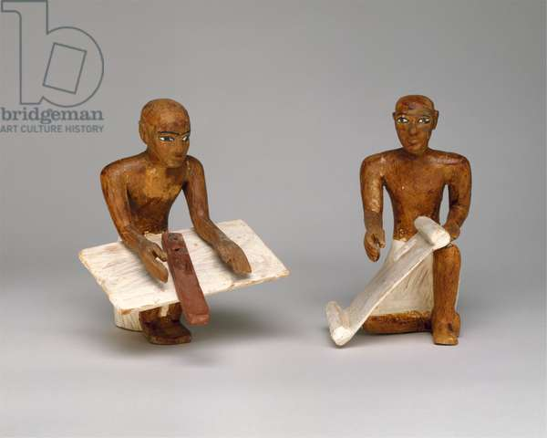 Scribes in the Model Granary from the tomb of Meketre, c.1981–1975 B.C. (wood, plaster, paint, linen)
