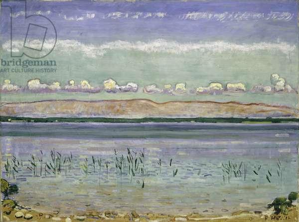Lake Geneva with Jura Hills, 1911 (oil on canvas)