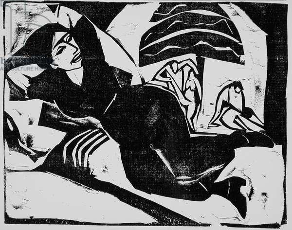 Rest, 1911 (woodcut)