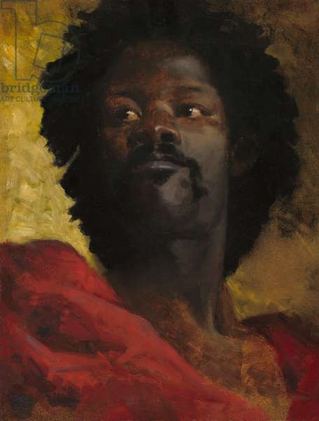 A Chief of Abyssinia, c.1870 (oil on canvas)