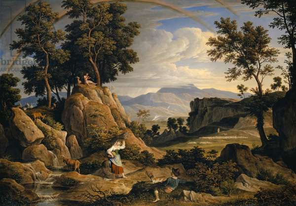 Landscape near Olevano with Rainbow, 1823-24 (oil on canvas)