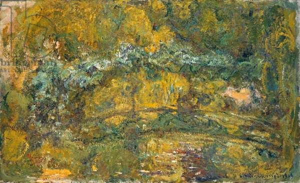 The Footbridge over the Water-Lily Pond, 1919 (oil on canvas)