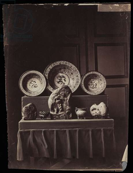 Display in Empress Eugénie's Musée Chinois at Fontainebleau, c.1861 (albumen print)