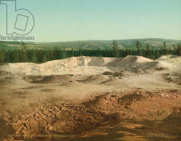 The Paint Pot, Yellowstone National Park, c.1902 (photochrom)