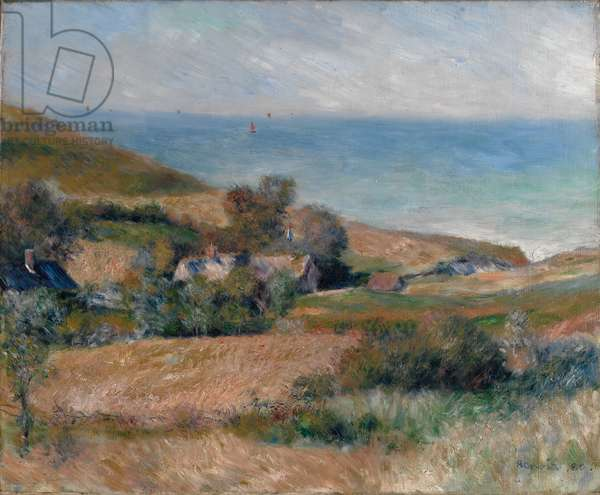 View of the Seacoast near Wargemont in Normandy, 1880 (oil on canvas)